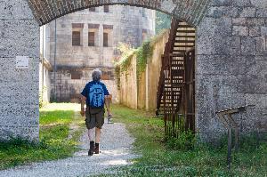 Wallanlage mit Donaublick: Festungsweg Ulm